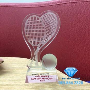 Cúp lưu niệm pha lê giải Tennis M49