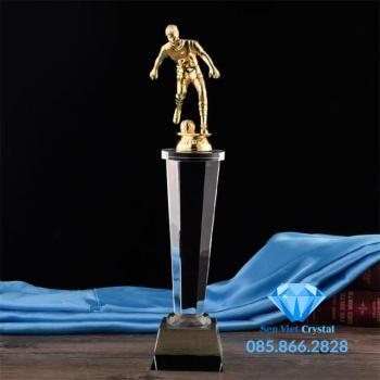 Cúp lưu niệm pha lê giải bóng đá M54