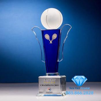 Cúp lưu niệm pha lê giải Tennis M07