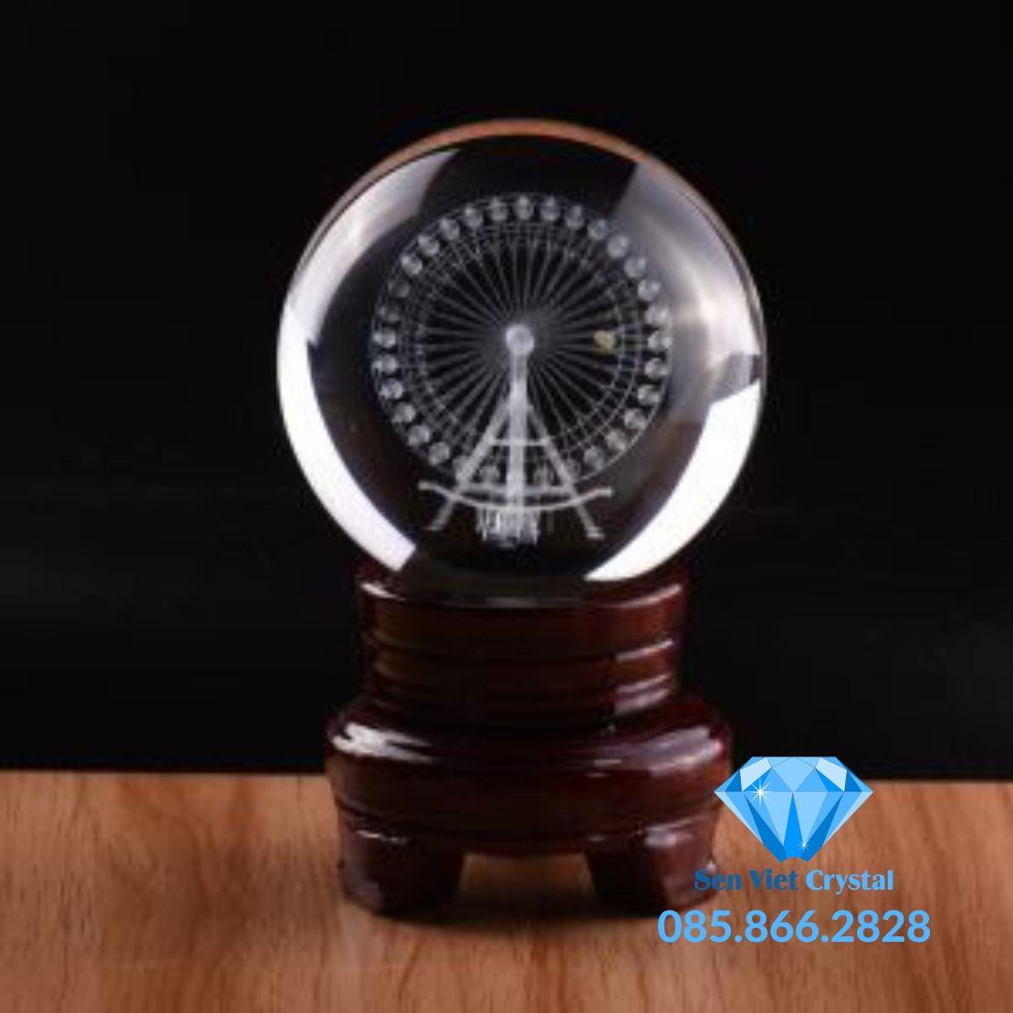 Khối pha lê khắc 3D M01