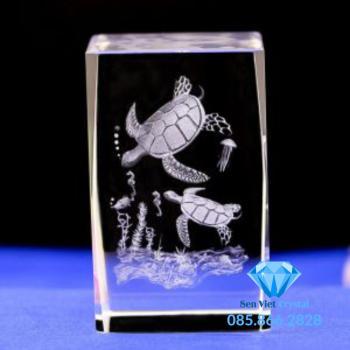 Khối pha lê khắc 3D M05