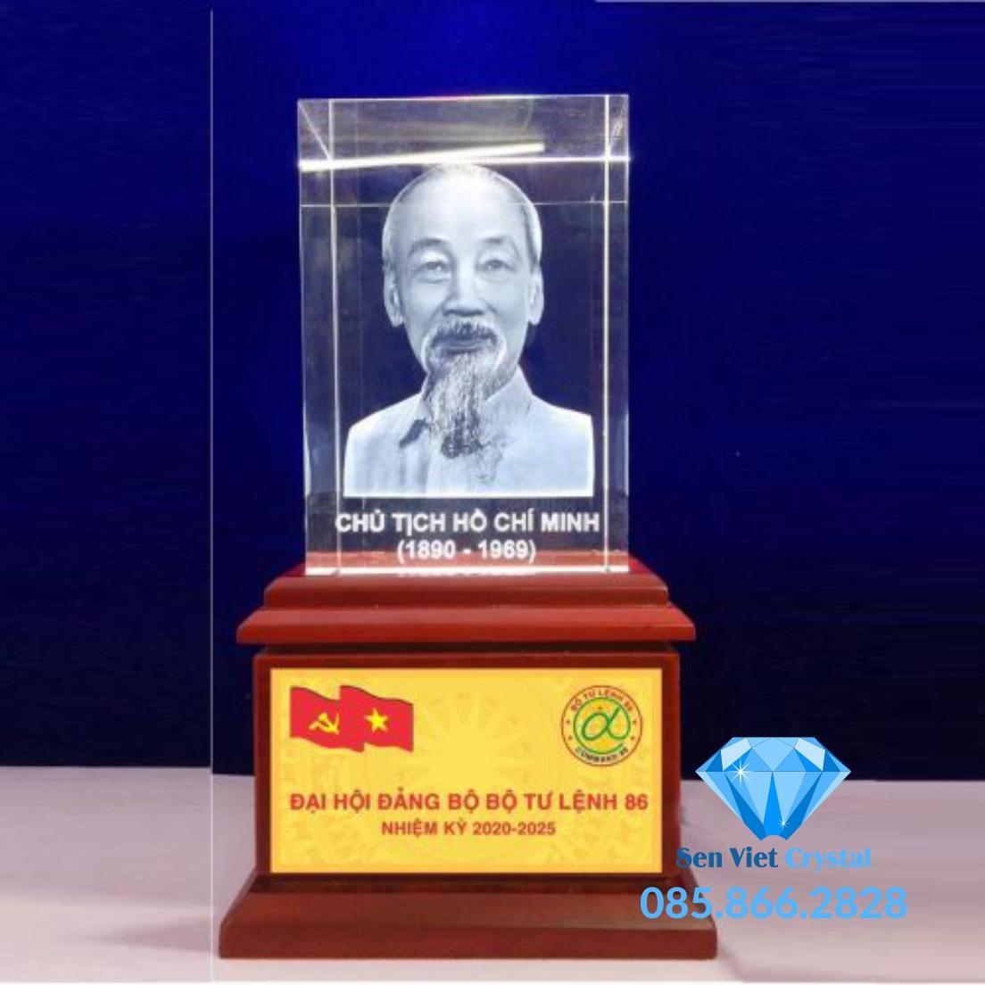 chân dung Bác Hồ in khắc 3d  giá rẻ nhất thị trường