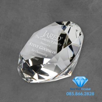 Chặn giấy pha lê hình kim cương