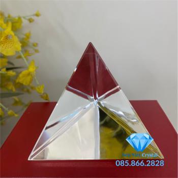 Chặn giấy pha lê hình chóp 3 cạnh tam giác đều